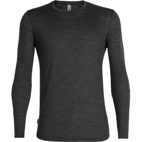 Icebreaker Sphere Longsleeve Crew Shirt Heren, black heather